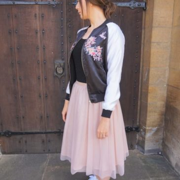 BOMBER JACKET AND TULLE SKIRT