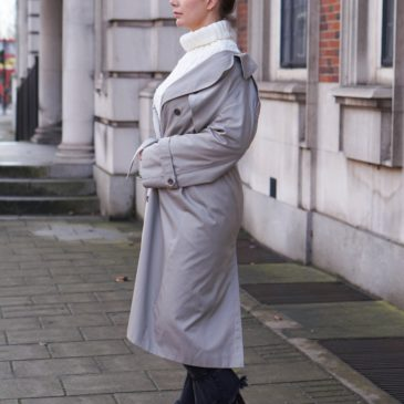OFF-THE-SHOULDER TRENCH COAT