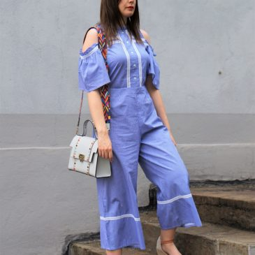 ANOTHER COLD SHOULDER JUMPSUIT